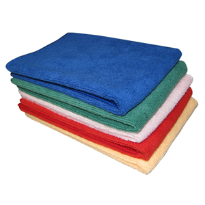 Cleanstar Microfibre Cloths 40x40cm 5/pk - Red